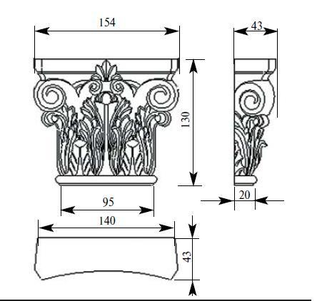 деревянная капитель 104 размеры