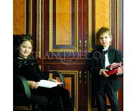 Деревянные стеновые панели дети