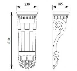 Консоль из дерева HCW-C-073 рамзеры